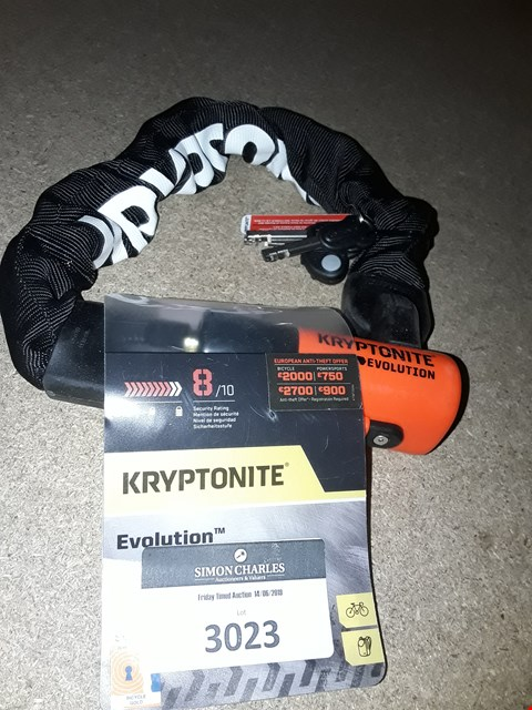 Lot 3023 KRYPTONITE EVOLUTION CHAIN LOCK