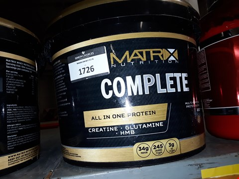 Lot 1726 MATRIX NUTRITION COMPLETE ALL-IN-ONE PROTEIN 4KG