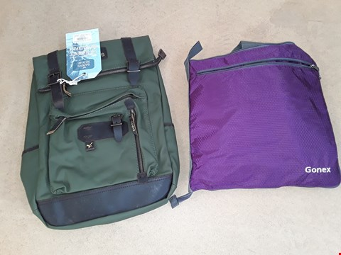 Lot 6059 LOT OF 2 ITEMS TO INCLUDE GANDYS RUCKSACK AND GONEX BAG