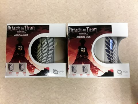 Lot 36 2 BRAND NEW ATTACK ON TITAN OFFICIAL MUGS