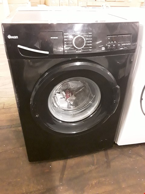 Lot 12038 SWAN 9KG LOAD 1200 SPIN WASHING MACHINE BLACK  RRP £209.00