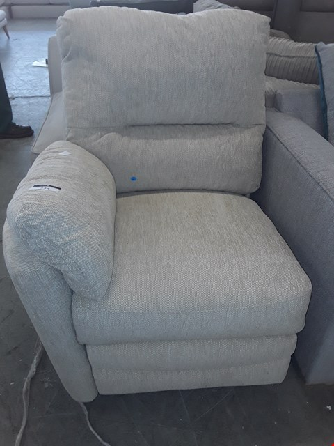 Lot 155 NATURAL FABRIC POWER RECLINING SECTION
