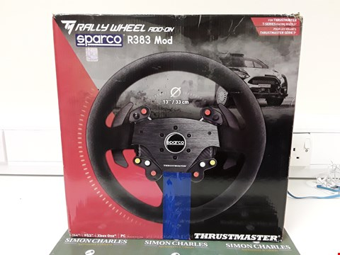 Lot 6557 THRUSTMASTER RALLY WHEEL ADD-ON SPARCO R383 MOD (XB1/PS4/PS3/PC)