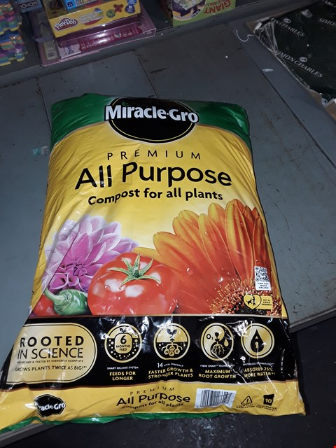 Lot 2201 MIRACLE GROW ALL PURPOSE COMPOST 18KG