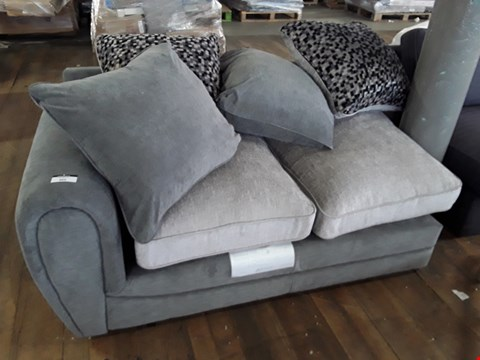 Lot 364 DESIGNER TWO TONE FABRIC SOFA SECTION