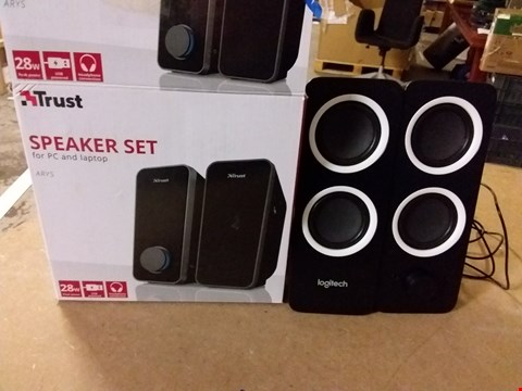Lot 1043 LOGITECH Z200 10W STEREO SPEAKERS