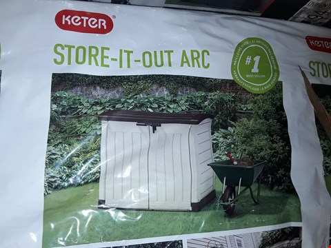 Lot 48 KETER STORE-IT-OUT-ARC STORAGE UNIT