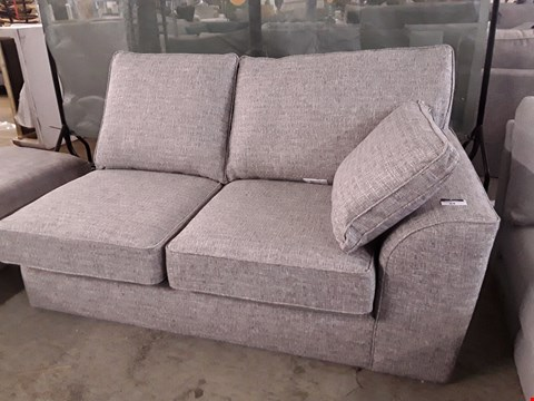 Lot 84 QUALITY DESIGNER BRITISH MADE STAMFORD LIGHT GREY SECTION WITH STORAGE & BOLSTER CUSHION
