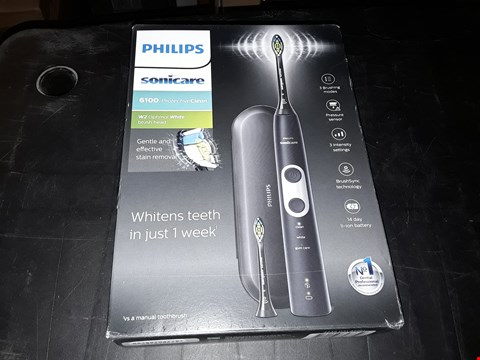 Lot 6342 BRAND NEW BOXED PHILIPS SONICARE 6100 PROTECTIVE CLEAN ELECTRIC TOOTHBRUSH RRP £385