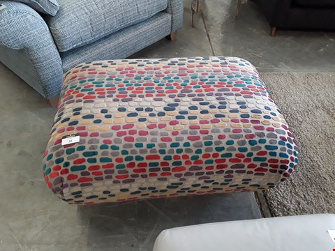 Lot 70 QUALITY BRITISH DESIGNER MULTI COLOURED RECTANGULAR FOOTSTOOL
