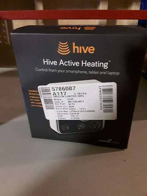 Lot 8160 HIVE ACTIVE HEATING FROM MOBILE, TABLET, LAPTOP