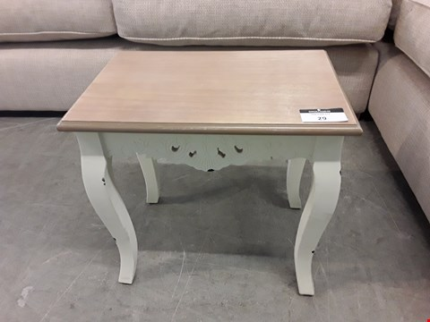 Lot 29 DESIGNER PAINTED WOOD AND OAK DISTRESSED EFFECT SIDE TABLE