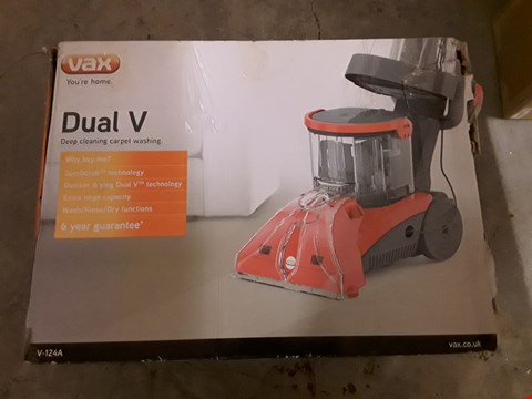 Lot 628 VAX DUAL V DEEP CLEANING CARPET WASHER