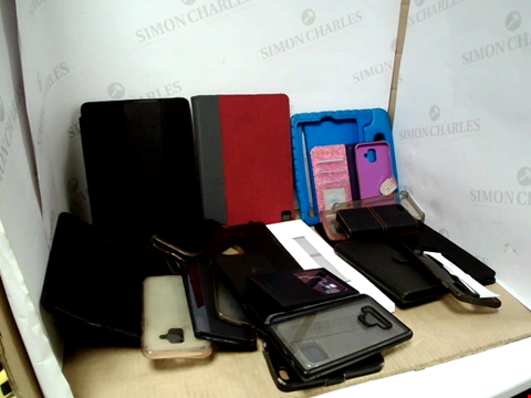 Lot 6189 BOX OF ASSORTED PHONE AND TABLET CASES ETC