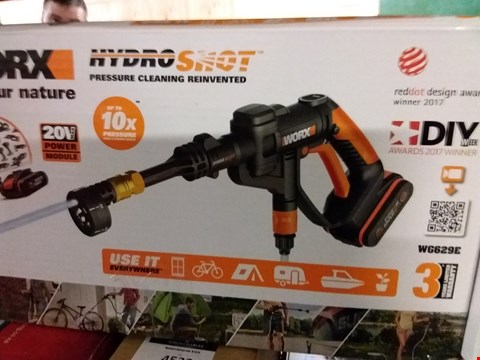 Lot 4570 WORX WG629E 18V 20V MAX CORDLESS HYDROSHOT PORTABLE PRESSURE CLEANER