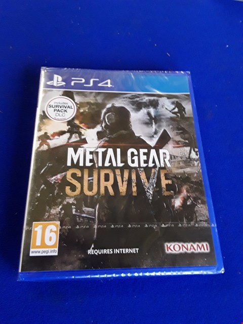 Lot 7621 METAL GEAR SURVIVE PLAYSTATION 4 GAME