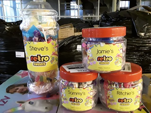 Lot 81 LOT OF 4 ASSORTED GRADE 1 PERSONALISED RETRO SWEETS JARS RRP £69