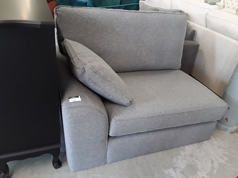 Lot 33 DESIGNER GREY FABRIC SOFA SECTION