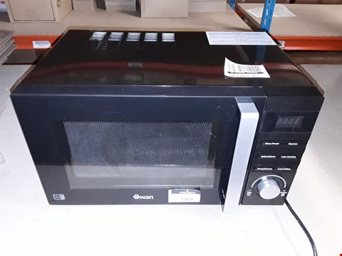Lot 1355 SWAN SM22100B 23L MICROWAVE BLACK RRP £109.99