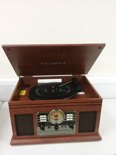 Lot 3178 VICTROLA CLASSIC 6-IN-1 BLUETOOTH TURNTABLE MUSIC CENTRE - MAHOGANY
