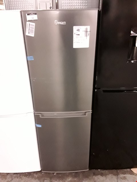 Lot 58 SWAN R8180S 143CM 50/50 FRIDGE FREEZER IN SILVER