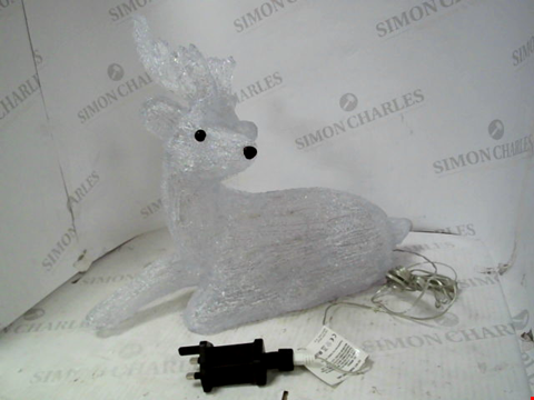 Lot 13000 OUTDOOR SPUN ACRYLIC REINDEER WITH ANTLERS RRP £49.99