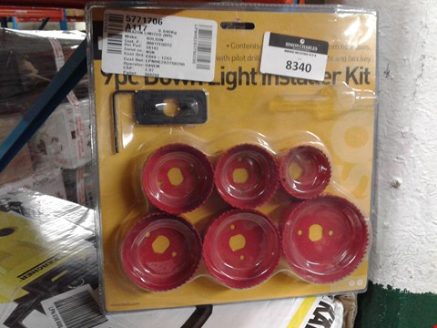 Lot 8340 ROLSON 9PC DOWN LIGHT INSTALLER KIT