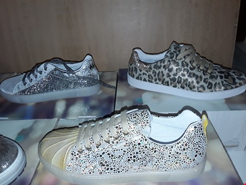 Lot 12796 LOT OF 7 ASSORTED SIZE/STYLES PAIRS OF BOXED NATURINO YOUNG SHOES