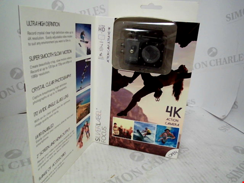 Lot 269 BOXED SILVERLABEL FOCUS 4K ACTION CAMERA