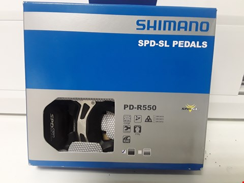 Lot 4264 BOXED SHIMANO SPD-SL PEDALS PD-R550