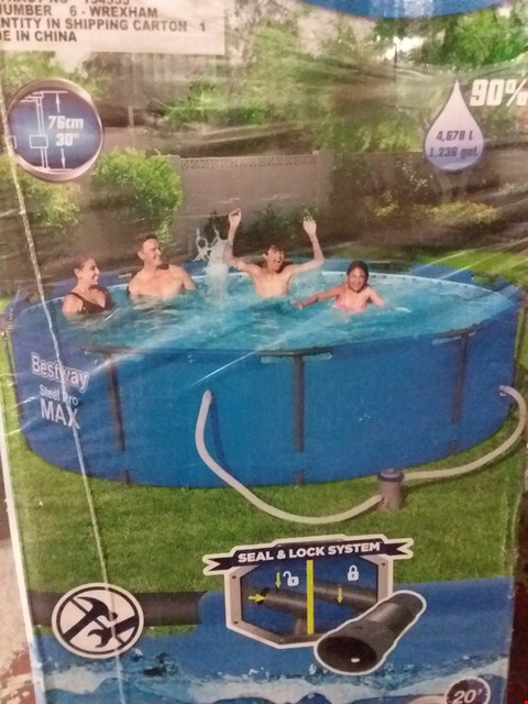 Lot 2205 GRADE 1 BESTWAY 10FT STEEL PRO MAX POOL RRP £190.00