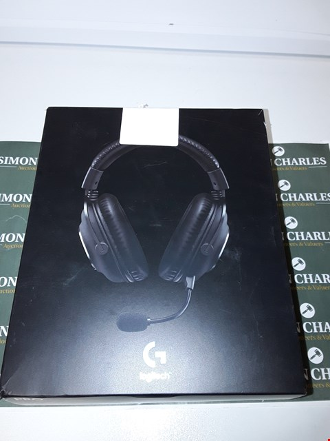 Lot 6219 LOGITECH G PRO GAMING HEADSET 2ND GENERATION COMFORTABLE AND DURABLE WITH PRO-G 50 MM AUDIO DRIVERS