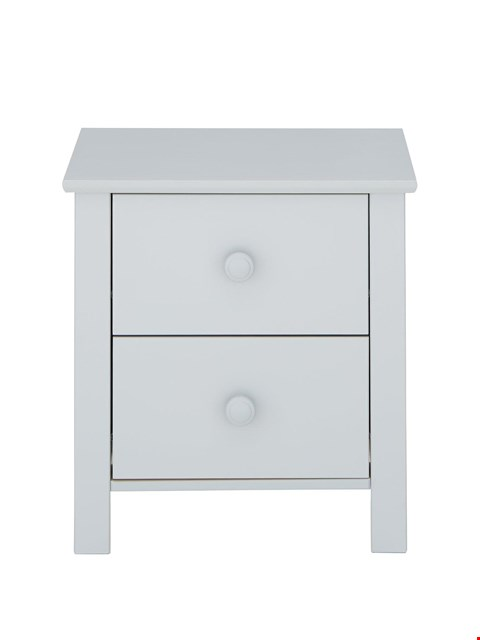 Lot 3084 BRAND NEW BOXED NOVARA GREY BEDSIDE CHEST (1 BOX) RRP £99