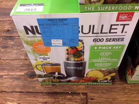 Lot 372 BOXED NUTRIBULLET 600 SERIES NUTRITION EXTRACTOR RRP £79.99