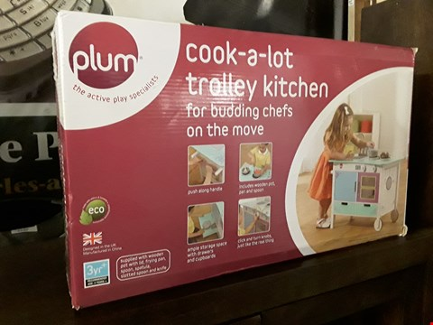 Lot 3186 BOXED PLUM COOK-A-LOT TROLLEY KITCHEN