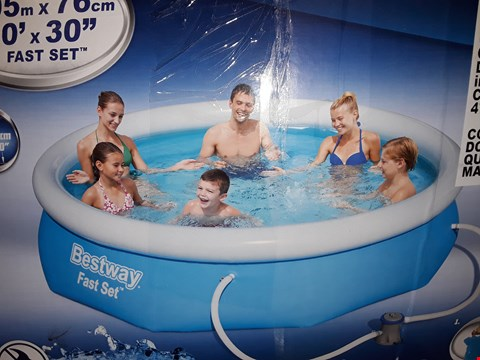Lot 3364 BESTWAY 10FT POOL FAST SET BLUE RRP £169.00