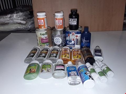 Lot 223 LOT OF ASSORTED LIQUID HOMEWARE ITEMS TO INCLUDE MOD PODGE, JOHNSONS PET SHAMPOOS,CUPRINOL SWEET SUNDAY GARDEN PAINT