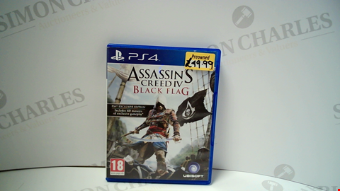 Lot 18010 ASSASSINS CREED IV BLACK FLAG PLAYSTATION 4 GAME