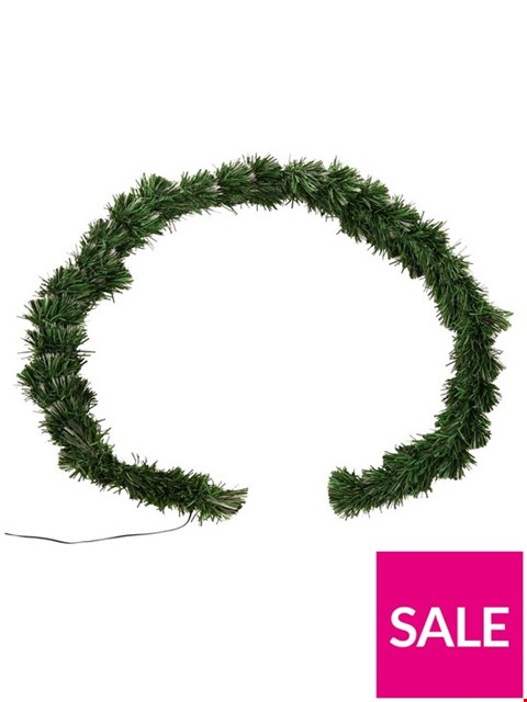 Lot 249 6FT FIBRE OPTIC COLOURING CHANGING GARLAND TREE RRP £74.99