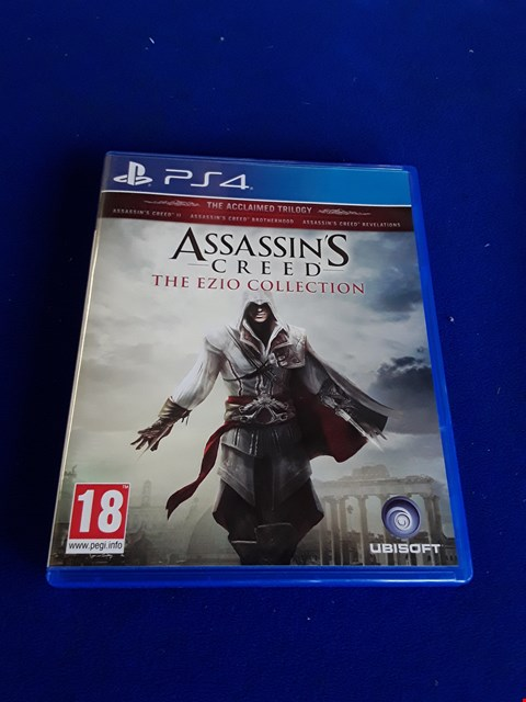 Lot 7639 ASSASSINS CREED THE EZIO COLLECTION PLAYSTATION 4 GAME