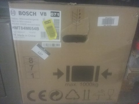 Lot 127 BOSCH V8 BUILT IN MICROWAVE RRP £349