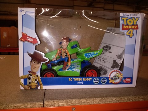 Lot 5264 BOXED DISNEY PIXAR TOY STORY 4 RC TURBO BUGGY WOODY GRADE 1 RRP £35.00