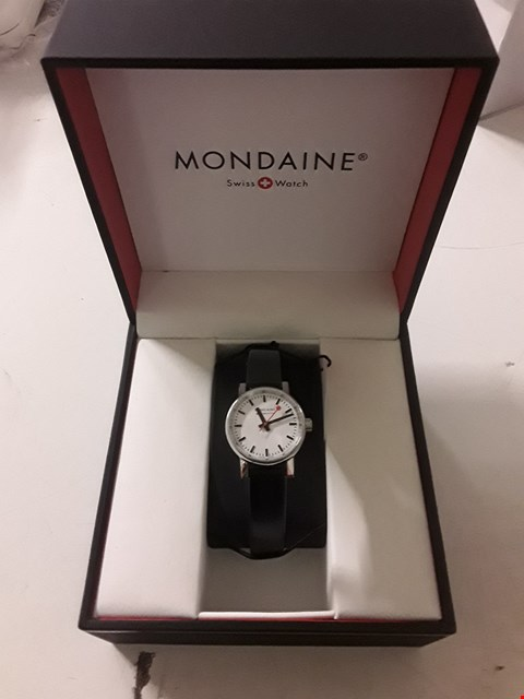 Lot 3047 BRAND NEW MONDAINE SWISS MADE EVO2 WHITE SAPPHIRE ANALOGUE WRISTWATCH  RRP £249.00