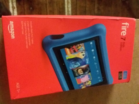 "Lot 2386 FIRE 7 KIDS EDITION 7"" TABLET BLUE  RRP £129.99"