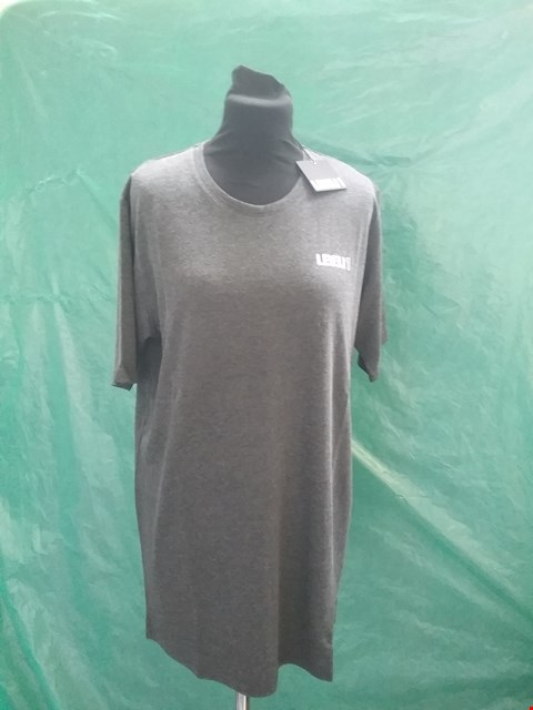 Lot 4156 BRAND NEW LEVEL 1 GREY T SHIRT SIZE S RRP £29.99