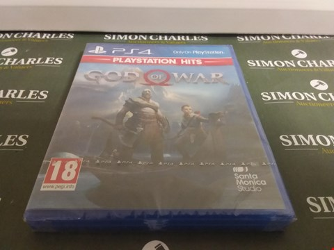 Lot 1049 GOD OF WAR PLAYSTATION 4 GAME