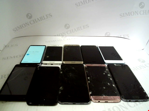 Lot 3373 LOT OF 10 ASSORTED SMARTPHONES; VARIOUS MAKES AND GRADES
