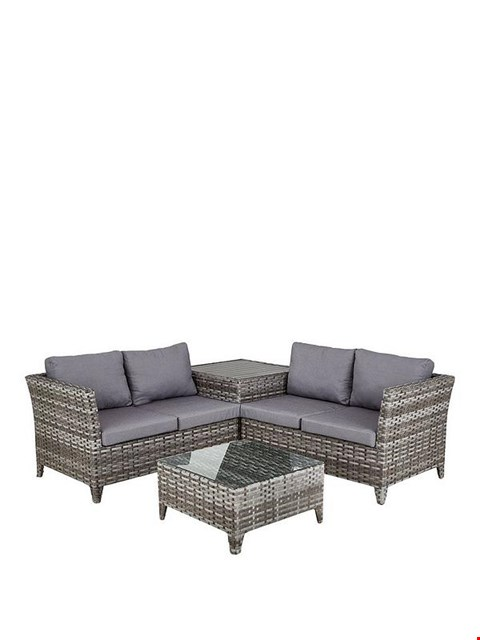 Lot 2067 BOXED GRADE 1 ARUBA 4 SEATER CORNER SET WITH TABLE & CUSHION BOX (3 BOXES)
