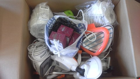 Lot 2178 BOX OF ASSORTED HOUSE HOLD ITEMS TO INCLUDE 1 LITRE DEEP FRYER CHRISTMAS LIGHTS IRON ECT