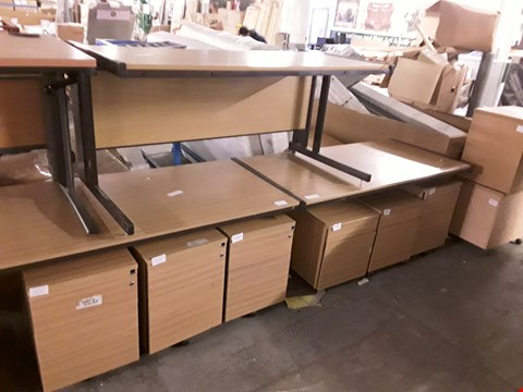 Lot 764 LOT OF 11 PIECES OF ASSORTED OFFICE FURNITURE INCLUDES 3 TABLES AND 8 DRAWERED CABINETS